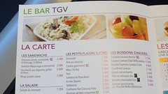Le Bar TGV Menu, France
