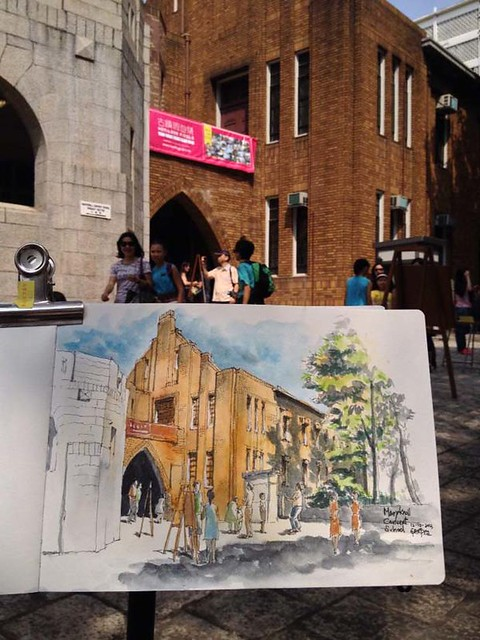 Sketching at Maryknoll Convent School