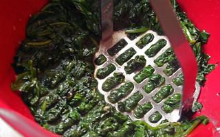 Fritters d'épinards et aïoli aux anchois