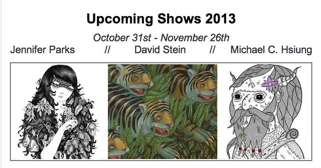 Upcoming Halloween Group show at Antler 10/31