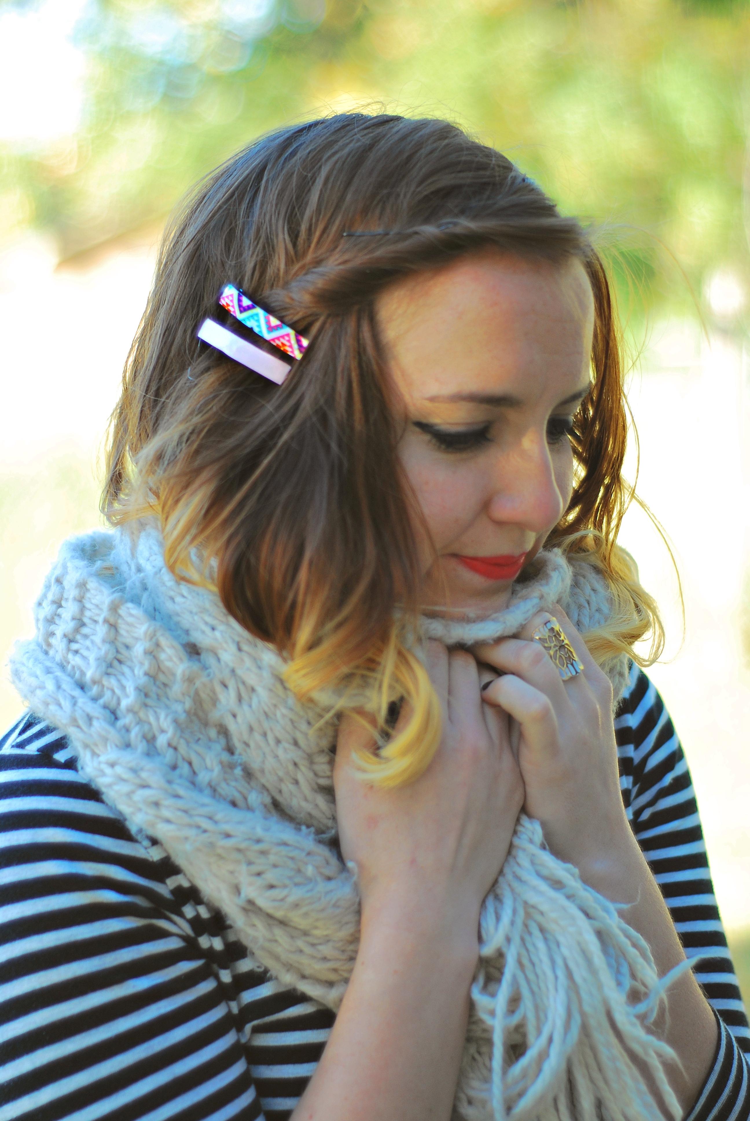 DIY ribbon hairclips
