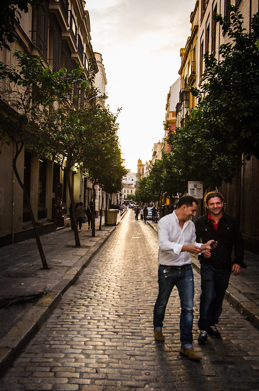 Sunset in the streets of Sevilla.