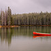 Island Lake Canoe by Panorama Paul