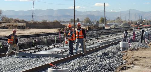 Photo of first track on Gold Line along Riodge Road near Tabor Street in Wheat Ridge