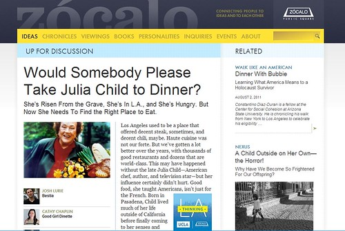 UP FOR DISCUSSION: Would Somebody Please Take Julia Child to Dinner?
