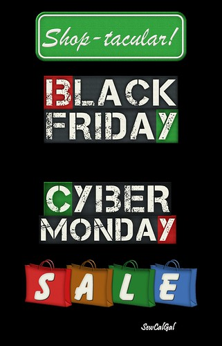 black friday cyber monday sale sign