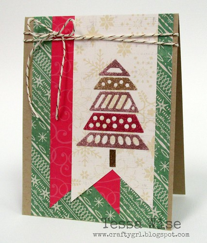 Glitter Christmas Tree Card 1