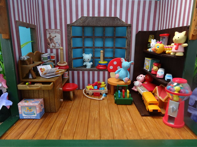 Toy store interior