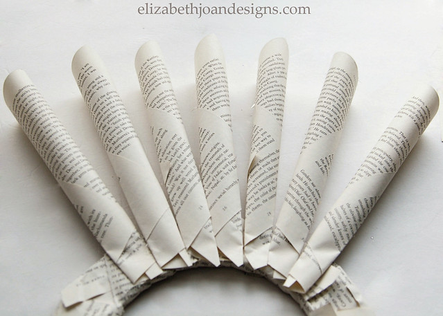 Book Page Wreath 7