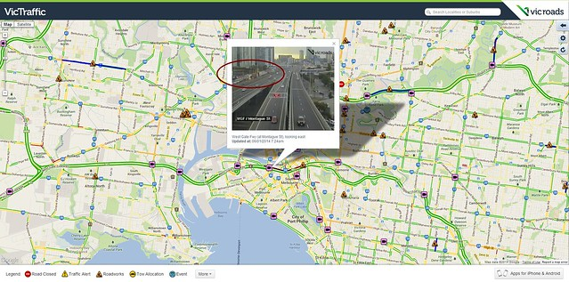 Vicroads: traffic 6/1/2014 7:30am