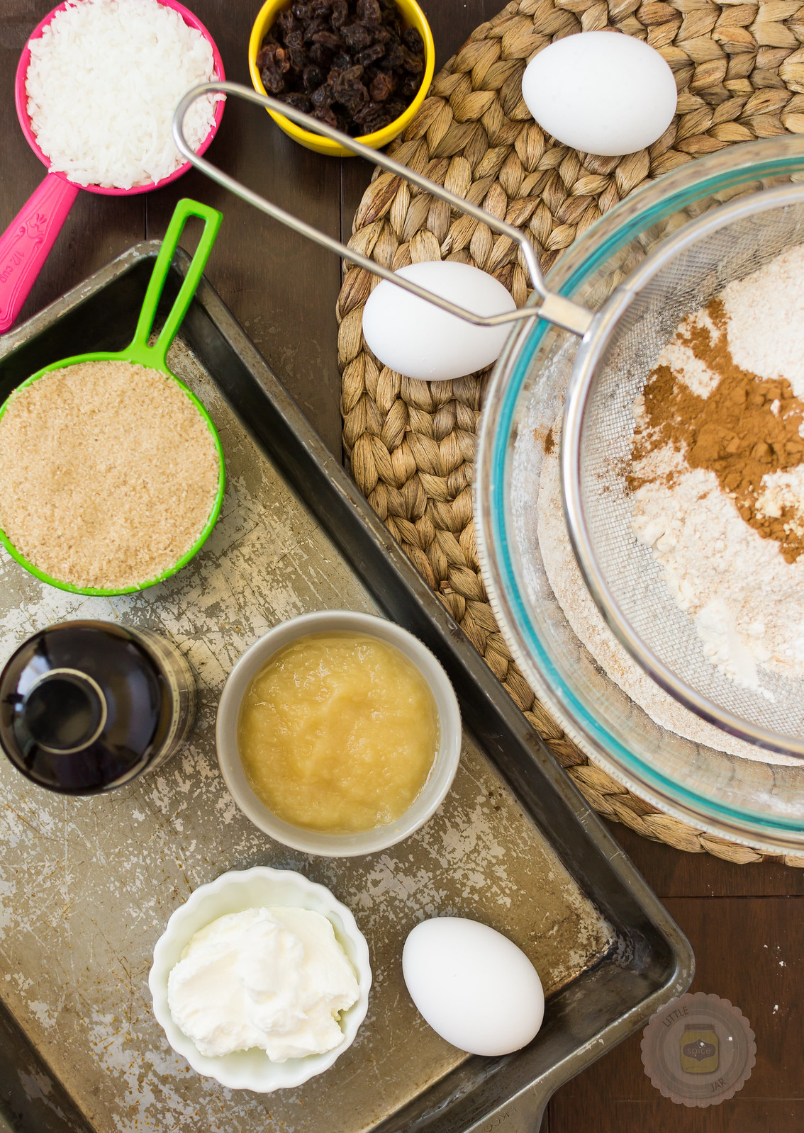 Super Moist and Healthy Carrot Cake Muffins Ingredients Shot
