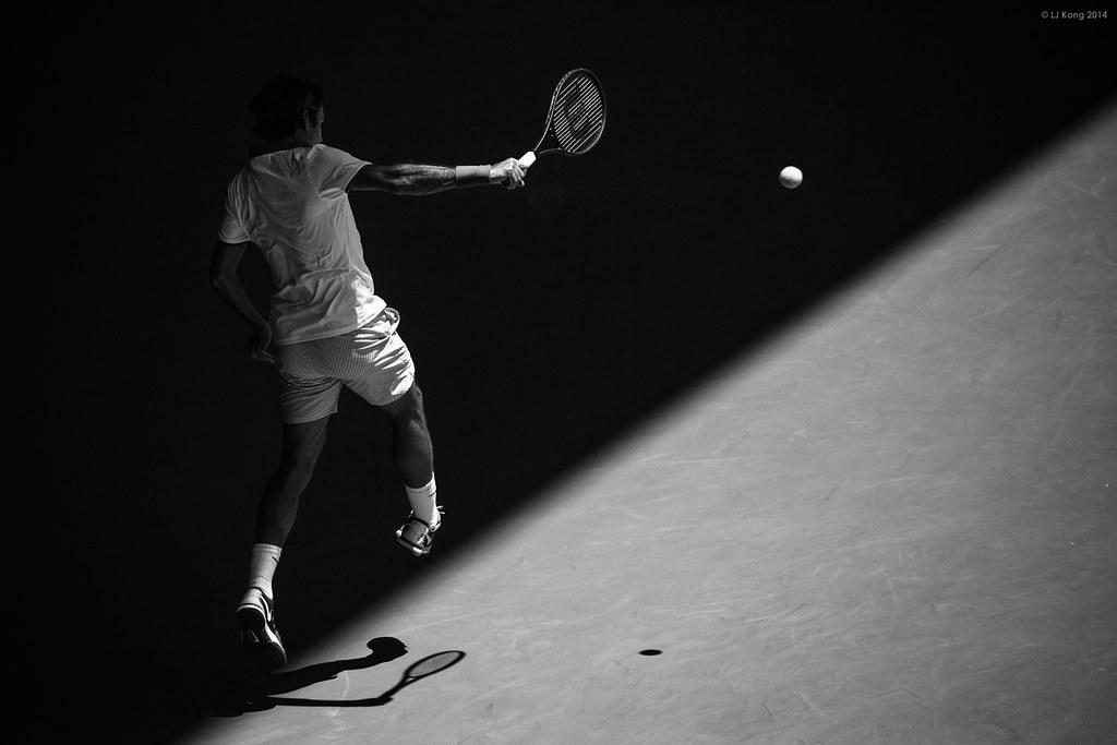 Roger Federer Black & White