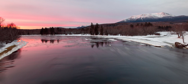 Katahdin Winter Sunset