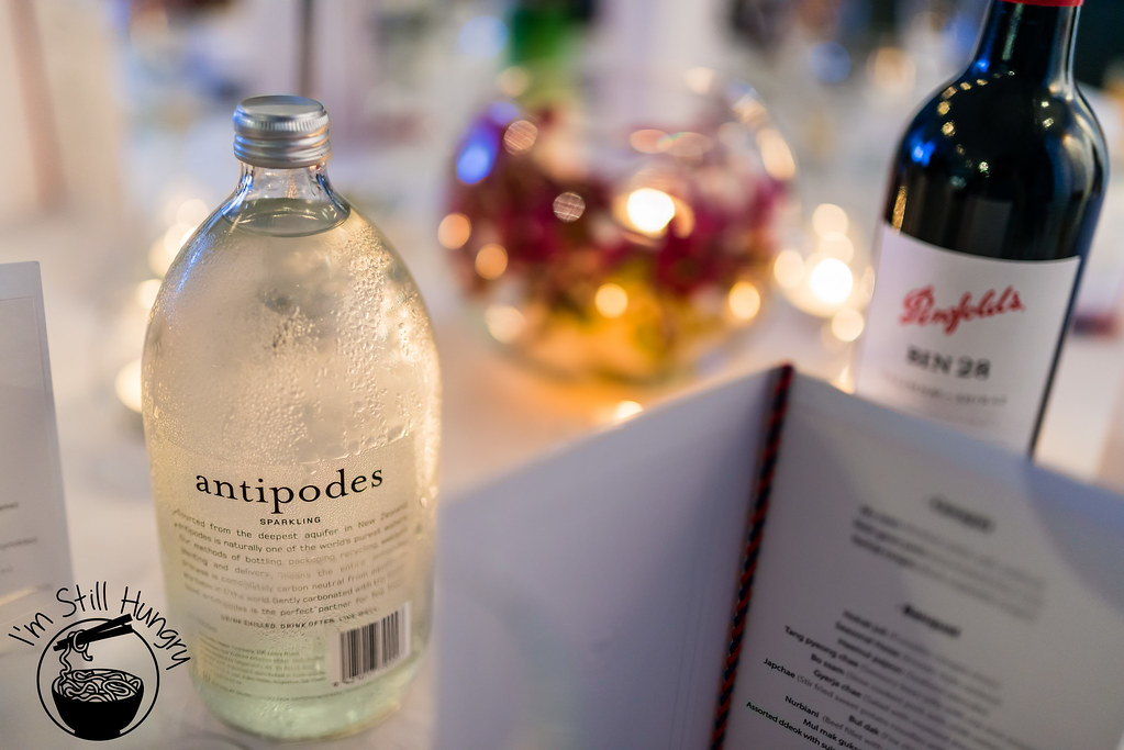 Antipodes water korean banquet showcase