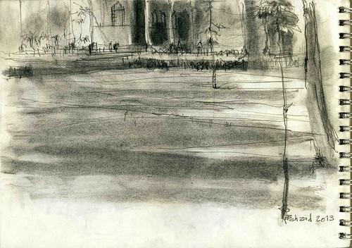 Chehel Sotoun (2) by Behzad Bagheri Sketches