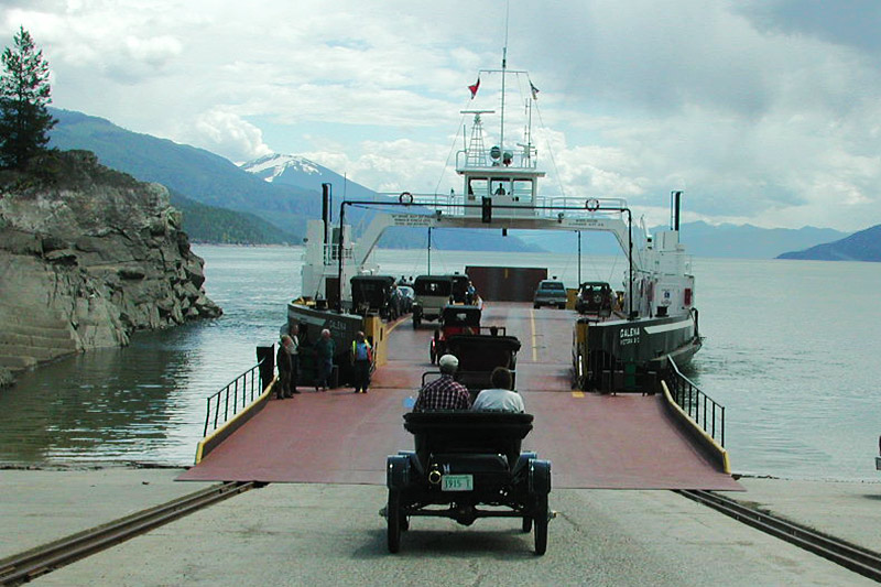 Shelter Bay Ferry Terminal, Shelter Bay, Upper Arrow Lake, Kootenay Rockies, British Columbia, Canada
