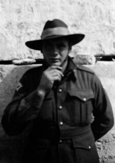 March 1942 - Jack Mingramm at the Great Pyramid & Sphinx, Giza, Egypt
