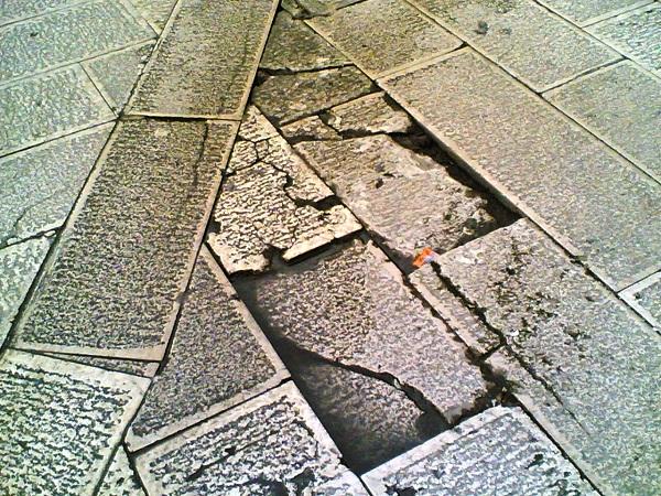 Noicattaro. Basolatura centro storico intero