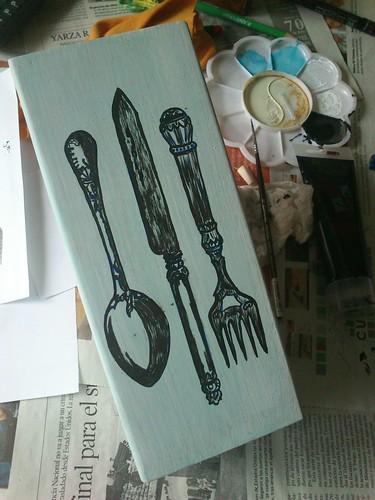 dibujo Cuchillo,cuchara,tenedor by alialba