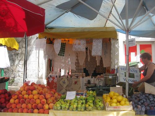 Shopping at the local daily  market, Split, Croatia
