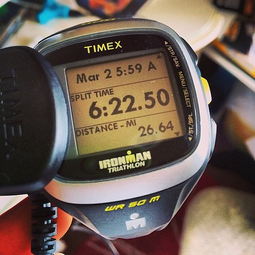 I think my watch was a little off yesterday @ LRMarathon! #runchat #running