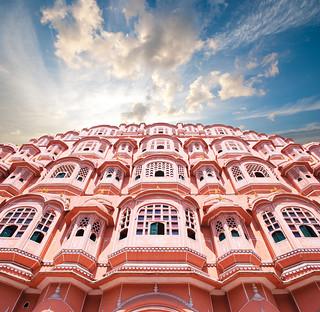 Hawa Mahal, el Palacio de los Vientos, en Jaipur, Rajasthan