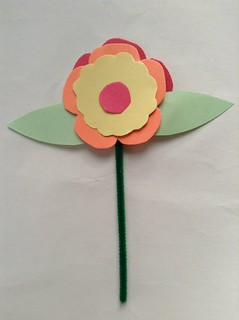 Paper flowers for Mother's Day