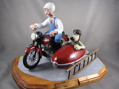 Wallace & Gromit Motorbike with Sidecar