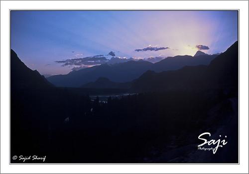 travel pakistan sunset mountain nature landscape chitral kpk