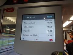 Ecran d'information voyageur Régiolis