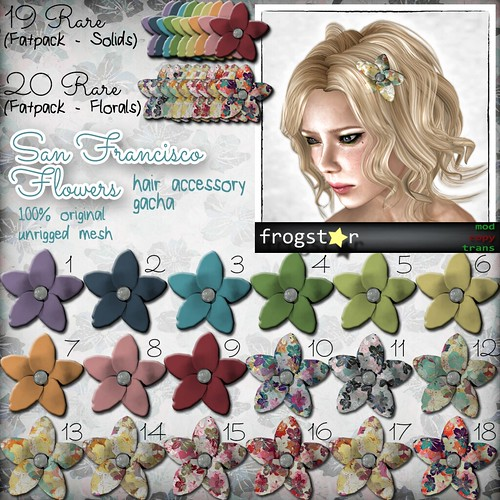Frogstar - San Francisco Flowers Gacha Poster