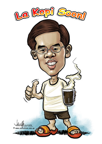 digital kopi caricature for Ministry of Manpower (revised)