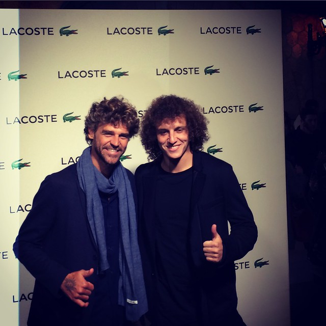 David Luiz and Gustavo Kuerten