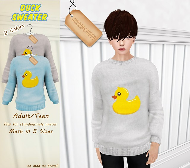 ::Puddi-Puddi:: Adult/Teen Duck Sweater