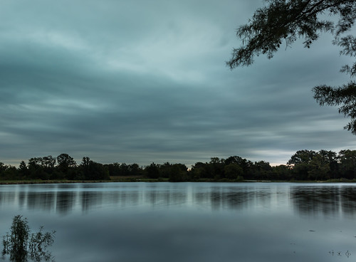 longexposure morning trees lake water clouds landscape dawn pond cloudy overcast september missouri stcharlescounty buschwildlife lake6 canon5dmkiii canon24105mmf4lens