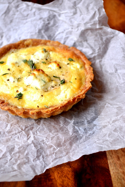Recipe for Celeriac and Goats Cheese Tart