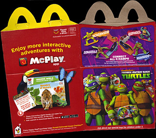 "McDonald's Happy Meal :: ""TEENAGE MUTANT NINJA TURTLES Skate Park & FURBY BOOM!"" box ii (( 2014 ))"