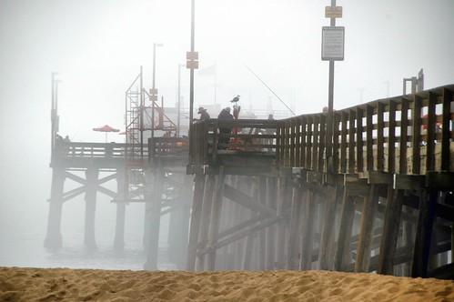 Midday Fog at Balboa Pier