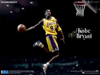 ENTERBAY【柯比.布萊恩 8 vs. 24 雙人組合包】黑曼巴 Kobe Bryant 1/6 比例人偶作品
