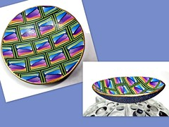 polymer clay Rainbow Ring Dish