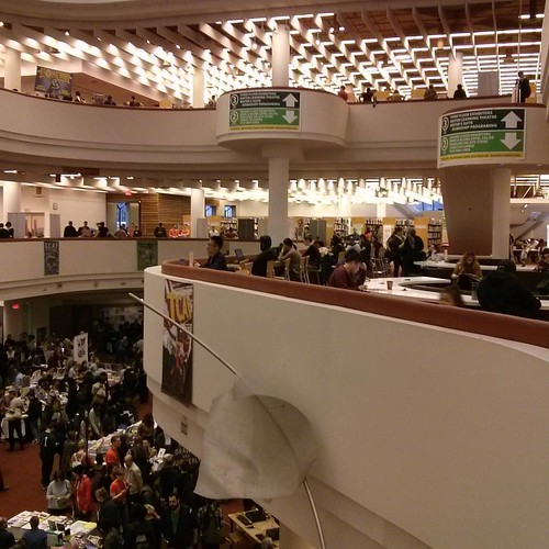 The crowds #toronto #tcaf #torontoreferencelibrary