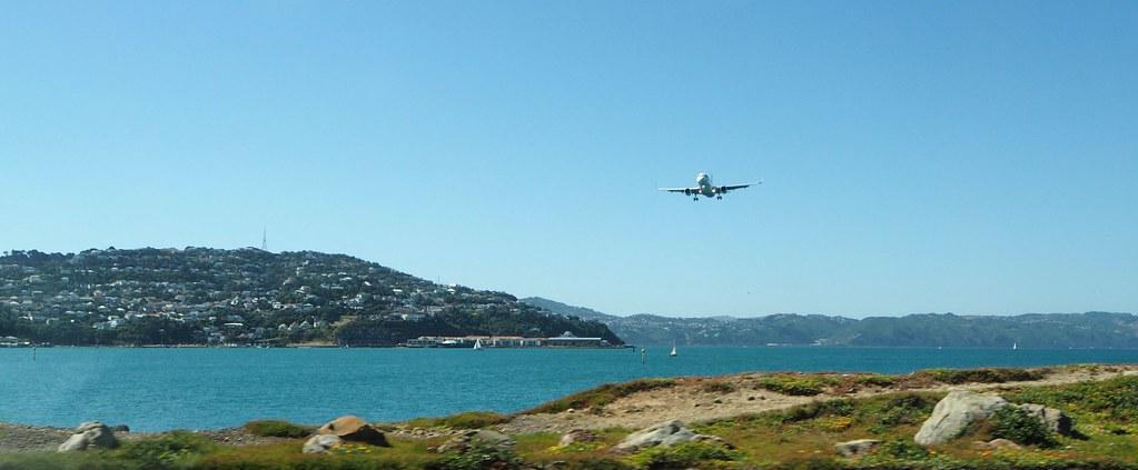Plane Approaching Wellington Airport