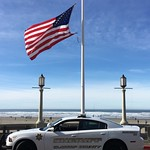 June 8, 2016 - 08:50 - On February 5th of 2016, Seaside police Office Sergeant Jason Goodding was shot and killed during the arrest of a wanted Felon in downtown Seaside Oregon in Clatsop County two blocks from the flag that overlooks the Pacific Ocean. He was our friend, my neighbor and loved by all in this community and is truly missed. He leaves behind a wife and two young beautiful daughters. Over 4000 people attended his funeral from all over the United States. Seaside has a population of about 6000 people. We honor this man by flying the flag of the United States of America at half mast and as Deputy Sheriffs we stand united with our fellow municipal Officers. My Deputies are proud men and women who sacrifice much and understand that every day they too may see their end of watch. Thank you for this opportunity. Sheriff Tom Bergin