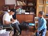 Sundar, Field Officer at CONCERN Interviewing Roj Tamang
