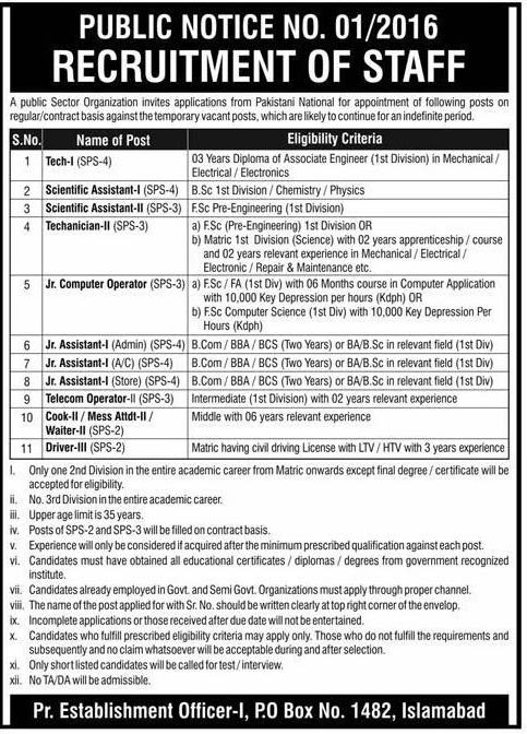 PO Box 1482 Islamabad