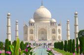 Taj Mahal in Agra. Foto: Günther Härter.