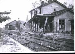 HS 2-52 (front) - Marne - Bomb damage to Dormans Station, WWI - Photo of Condé-en-Brie