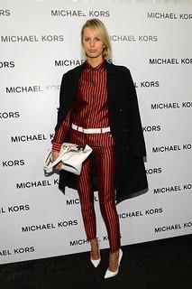 Karolina Kurkova White Pumps Celebrity Style Women's Fashion