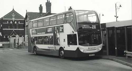 An Enviro400 seen at Ashton-under-Lyne Bus Station
