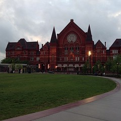Music Hall and beautiful light tonight.